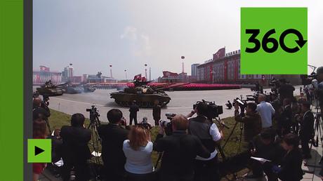 Pyongyang : images exceptionnelles du plus grand défilé militaire de la Corée du Nord