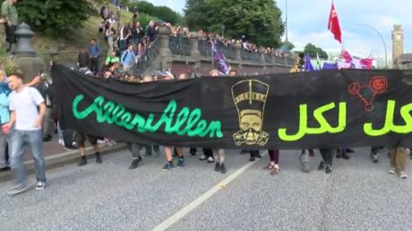 Les manifestants anti-G20 se réunissent à Hambourg