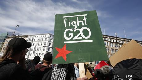 Les opposants au sommet du G20 défilent à Hambourg