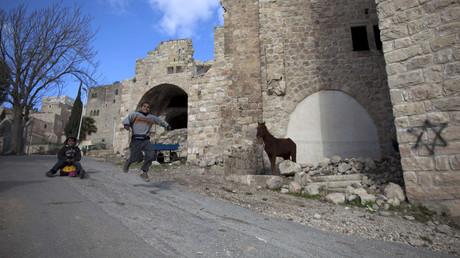 Vieille ville d'Hébron en Cisjordanie, photo ©MENAHEM KAHANA / AFP
