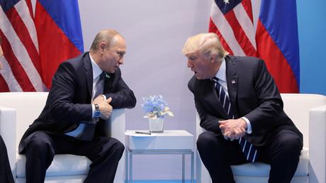 Vladimir Poutine et Donald Trump lors de leur rencontre au G20, le 7 juillet