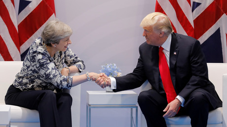 Donald Trump et Theresa May au G20