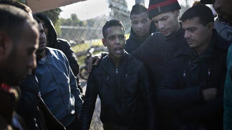 Manifestation de migrants en Algérie