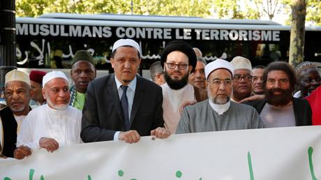 Chalghoumi bien seul dans sa marche des musulmans contre le terrorisme à Bruxelles (IMAGES)