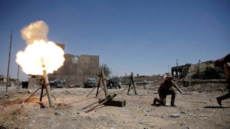 Les forces d'intervention d'urgence à Mossoul