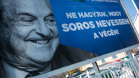 Une affiche anti-Soros à Budapest