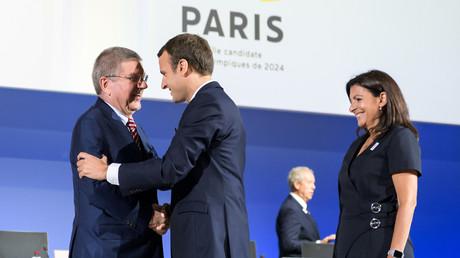 Emmanuel Macron et Anne Hidalgo rencontrent Thomas Bach, président du CIO, à Genève