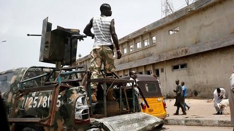 Illustration : Un soldat de l'armée nigériane à Maiduguri en juin 2017