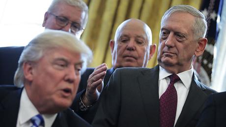 James Mattis, ministre de la Défense et Donald Trump