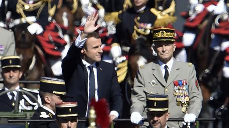 Emmanuel Macron et Pierre de Villiers au défilé du 14 juillet 2017