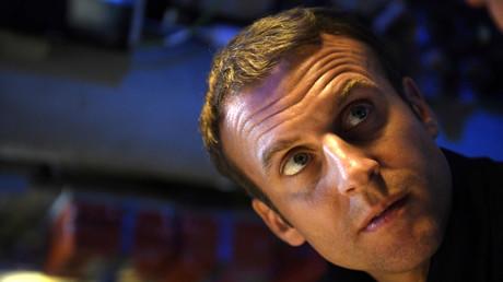Emmanuel Macron à bord du sous-marin
