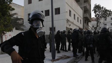 Policiers anti-émeute à Al-Hoceïma le 20 juillet