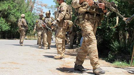 Illustration : des soldats de l'armée afghane dans la province d'Helmand
