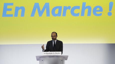 Le Premier ministre Edouard Philippe lors d'un meeting LREM à Paris, le 8 juillet