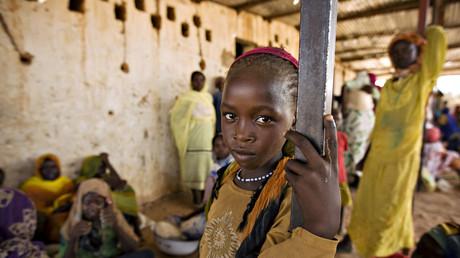 Une jeune soudanaise dans un camp de réfugiés au Tchad (Image d'illustration)