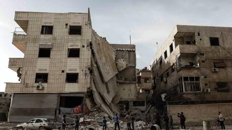 Hôpital bombardé à Ghouta