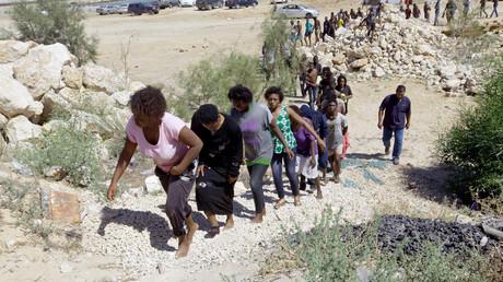 Des migrants en Libye (illustration)