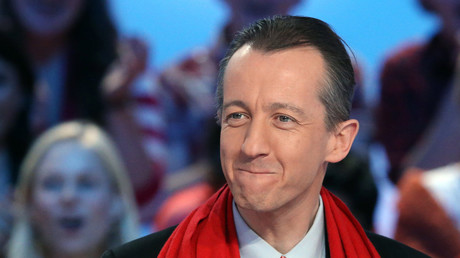 Christophe Barbier sur le plateau du Grand journal de Canal+ en 2012