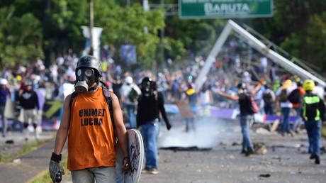 Manifestants anti-Maduro à Caracas