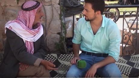 Khaled Alkhateb lors de son dernier reportage pour RT Arabic