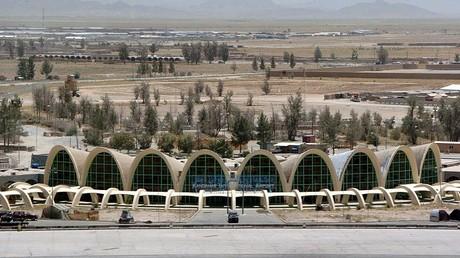 L'aéroport de Kandahar en Afghanistan