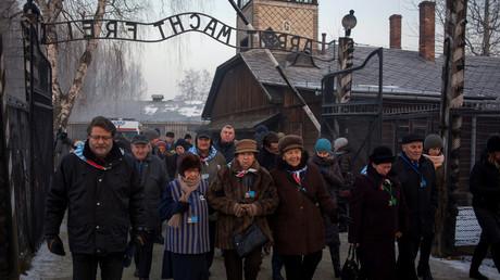 Image d'illustration. Marche de commémoration au camp d'Auschwitz en janvier 2017.
