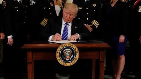 Donald Trump à la Maison Blanche (illustration)