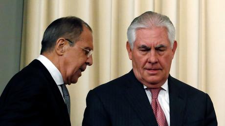Sergueï Lavrov et Rex Tillerson le 12 avril (image d'illustration)