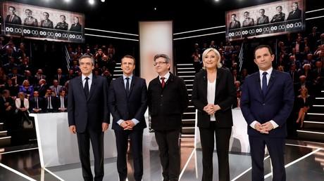 Les principaux candidats à la présidentielle sur le plateau de TF1 le 20 mars