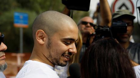 Elor Azaria à son entrée en prison le 9 août 2017