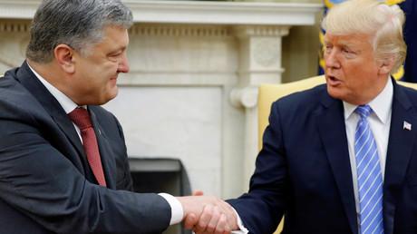 Petro Porochenko et Donald Trump pendant leur rencontre à Washington le 20 juin