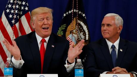 Président et Vice-président des Etats-Unis Donald Trump et Mike Pence