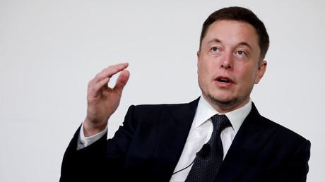 Elon Musk pendant une conférence le 9 août 2017.
