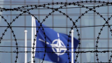Vue des quartiers généraux de l'OTAN à Bruxelles