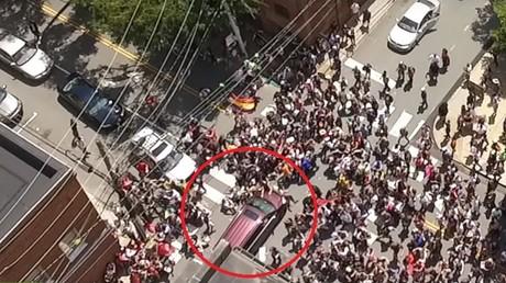 Une voiture avait percuté des manifestants à Charlottesville, aux Etats-Unis