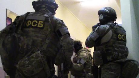 Les membres des services spéciaux russes pendant une opération à Moscou (photographie d'illustration)