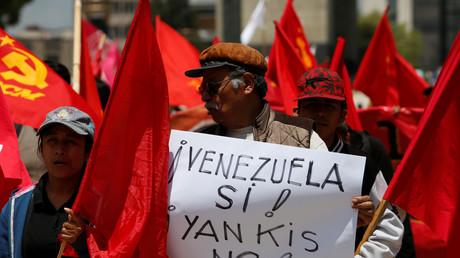 Une manifestation en soutien du président vénézuélien Nicolas Maduro