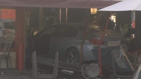La BMW qui a foncé sur une pizzeria à Sept-Sorts