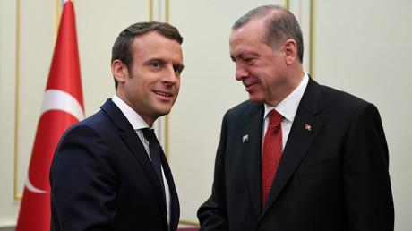 Emmanuel Macron et Recep Tayyip Erdogan, le 25 mai à Bruxelles au sommet de l'Otan