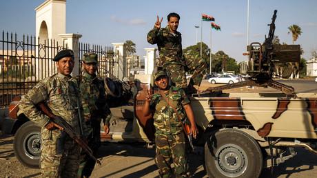 Membres de l'autoproclamée Armée nationale libyenne, loyale à Khalifa Haftar en juillet 2017, photo ©ABDULLAH DOMA / AFP