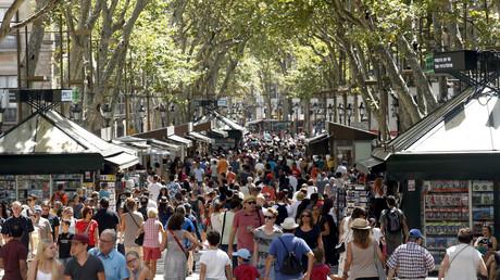 Las Ramblas, la célèbre artère touristique de Barcelone