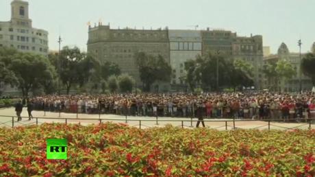 Minute de silence à Barcelone en hommage aux victimes
