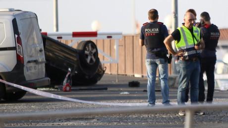 La police sur les lieux de l'attentat de Cambrils, en Espagne, photo ©Reuters
