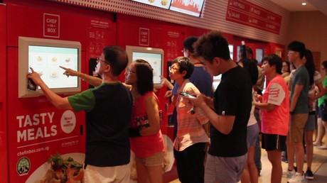 A Singapour, vous pouvez acheter des plats de grands chefs dans des distributeurs automatiques