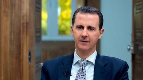 Bachar el-Assad durant une entrevue avec l'AFP en avril 2017.