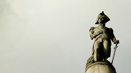 La colonne Nelson de Trafalgar Square à Londres, illustration ©Kieran Doherty/Reuters
