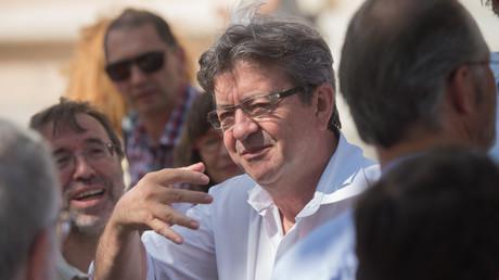 Le député des Bouches-de-Rhône Jean-Luc Mélenchon lors des journées d'été de la France insoumise, le 25 août à Marseille