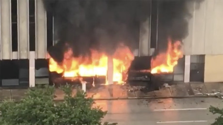 Importante explosion dans un immeuble à Houston dans le sillage de la tempête Harvey (IMAGES)