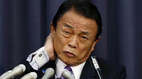 Taro Aso, ministre japonais des Finances et vice-Premier ministre, illustration ©Issei Kato/Reuters