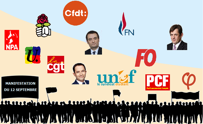 Jean-Luc Mélenchon dans le cortège contre la réforme du code du travail — Marseille